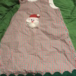 Bean Stalk holiday dress with removable santa